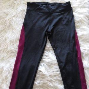 Black and Maroon Leggings NWT